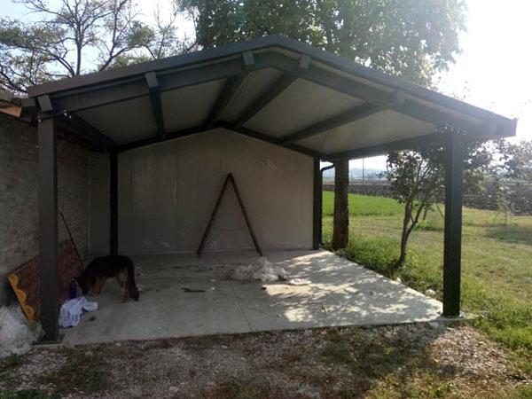 Tettoie garage parma piacenza preventivo strutture in for Capannoni in legno prezzi